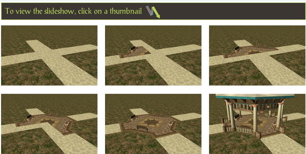 FlightToAtlantis.net - Joint Projects, Custom Content, L-33's POE Building 4 Set, Page 2 - Gazebo Benches Lightbox SliderThumbnails Set